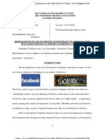 Memorandum of Law Motion to Dismiss Facebook v Teachbook