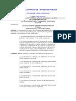 LEYDELESTATUTODELAFUNCIONPUBLICA