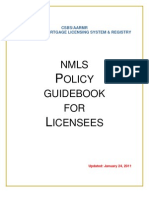 NMLS Guidebook for Licensees