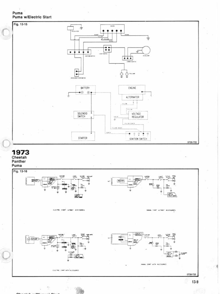 1973 Cheetah Wiring Diagram Electrical Diagrams Cougar Arctic Cat Sea Otter