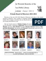 Friends Newsletter June 2011