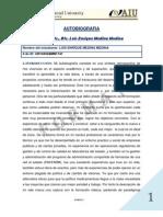 Autobiografía de un Estudiante Eterno solicitada por Atlantic International University, PhD.  Luis Enrique Medina Medina