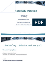 Advanced SQL IntectionV3