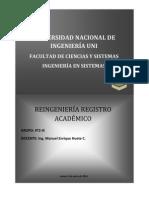 REINGENIERÍA REGISTRO ACADÉMICO