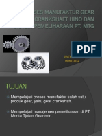Proses Manufaktur Gear