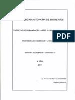 Didáctica de la Lengua y Literatura II - Programa 2011