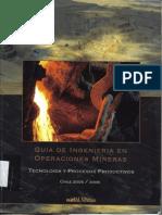 Guía de Ingeniería en Operaciones Mineras