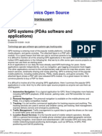 GPS systems (PDAs software and applications)