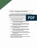 identifying thesis statement worksheet