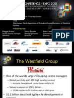 Smart2011 Presentation_2 1 Smart Awards Finalist - Westfield Dock Appointment Implementation at Westfield Sydney