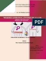 Mujeres lesbianas, jóvenes de 21 a 30 años de edad