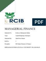Capital Budgeting Techniques- ZAHID NOOR