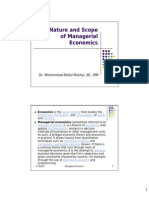 The Nature and Scope of Managerial Economics-MM [Compatibility Mode]