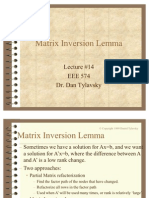 Matrix Inversion Lemma