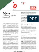 reforma de la negociación colectiva