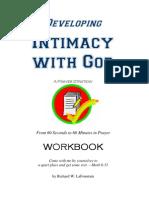 Prayer Workbook