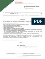 Modulo iscrizione al 1° corso per Aspiranti Pionieri