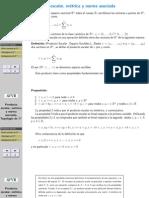 Producto Escalar Metrica y Norma Asociada