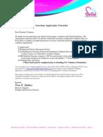 Solid Foundation Volunteer Packet