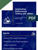 Automating Performance Testing JMeter Luba Ilieva
