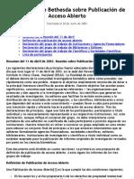 Bethesda Statement on Open Access Publishing ESPAÑOL