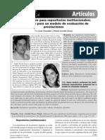 Software libre para repositorios institucionales propuestas para un modelo de evaluación de prestaciones