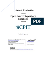 Tecnical evaluation of selected open source repository solutions