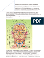 Диагностические проекционные зоны внутренних органов человека Агулов