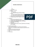 Internship Training Program_Report