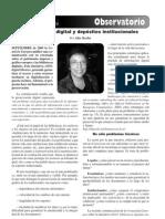 Preservación digital y depósitos institucionales