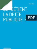 Qui détient la dette publique ? par Guillaume Leroy