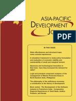 ASIA PACIFIC DEVELOPMENT JOURNAL volume 17, n°1, June 2010