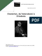 Chesterton da heterodoxia à ortodoxia