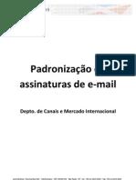 Manual de Padronização de assinaturas de email