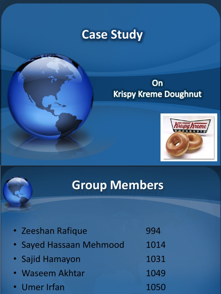 krispy kreme doughnuts-2008 case study strategic management