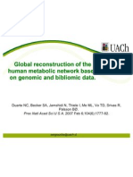 Global Reconstruction of the Human Metabolic Network Based on Genomic and Bibliomic Data