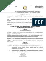 LEY DEL SISTEMA DESCENTRALIZADO DE ASEO URBANO DEL MUNICIPIO DE CHIHUAHUA