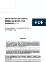 1992 - Deravi - Trade Announcements, Exchange Rates, And Interest Rates - International Review of Economics & Finance