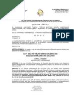 LEY DEL INSTITUTO CHIHUAHUENSE DE EDUCACIÓN PARA LOS ADULTOS
