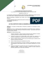 LEY DEL INSTITUTO PARA EL DESARROLLO DE SALVÁLCAR
