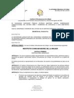 LEY DEL INSTITUTO CHIHUAHUENSE DE LA MUJER
