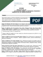 Análisis de los proyectos de Ley Sobre Extranjerización