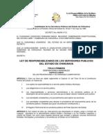 LEY DE RESPONSABILIDAD DE LOS SERVIDORES PÚBLICOS DEL ESTADO DE CHIHUAHUA