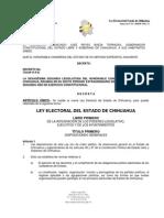NUEVA LEY ELECTORAL DEL ESTADO DE CHIHUAHUA