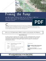 CA Water Project Forum flyer