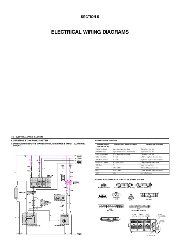 schematy daewoo nubira all models electrical connector switch Western Star Air Conditioner Wiring Diagram