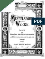 Mendelssohn - Piano Quartet
