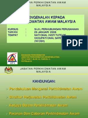 Pengenalan Kepada Perkhidmatan Awam Malaysia