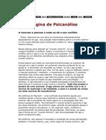 Psicanálise - neurose e psicose