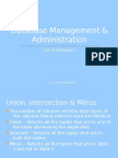 Database Management & Administration_Lecture 4